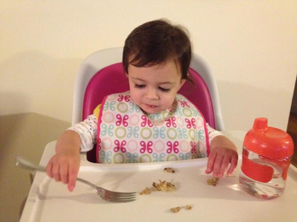 And I'm using the big girl fork. Woohoo!