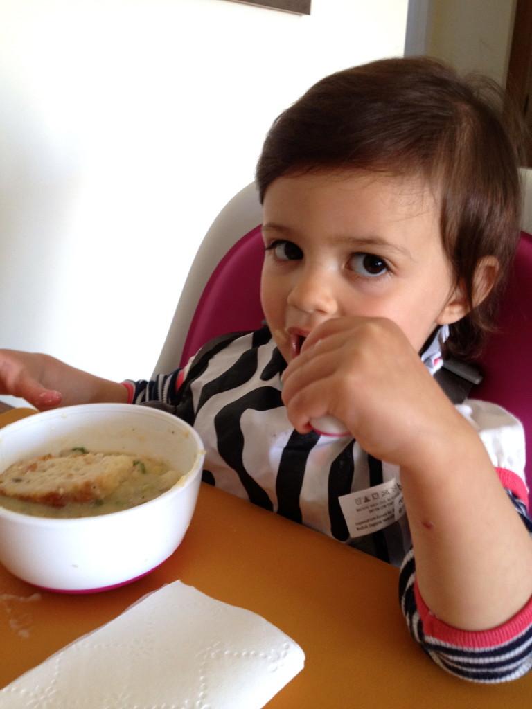 Okay, okay. I'll eat the soup. Sheesh!