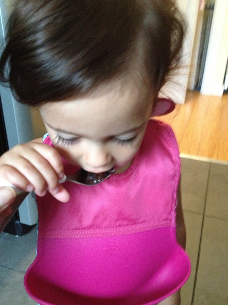 OXO Tot Pink Roll Up Bib from teeny tiny foodie
