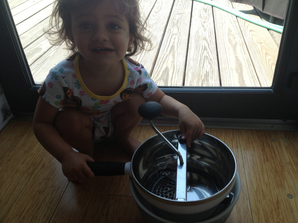 "My toddler and ""her"" OXO Food Mill"