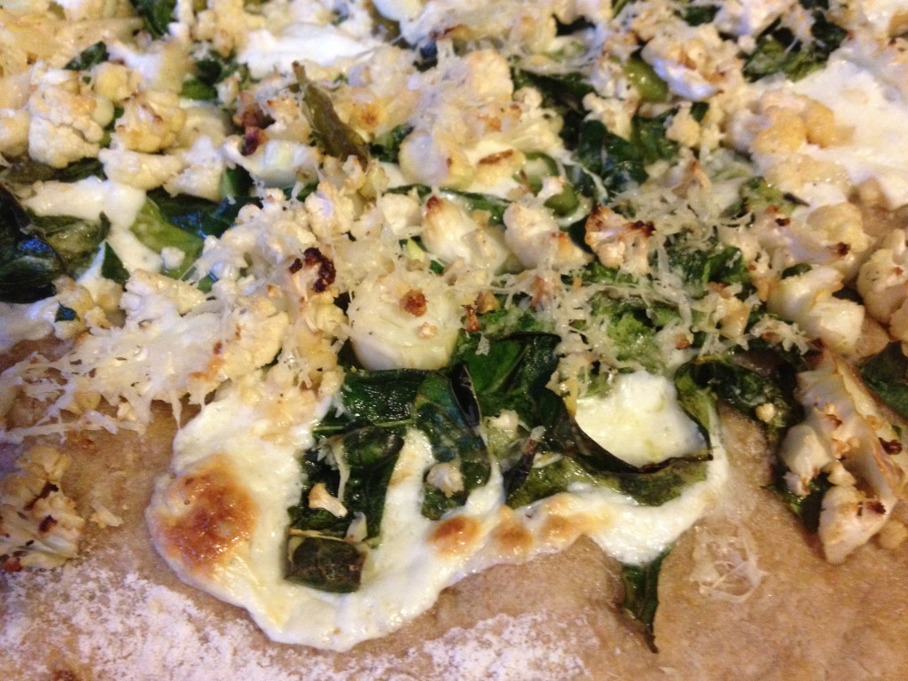 Cauliflower and Collards pizza.