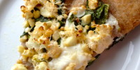 Cauliflower and Collards Pizza