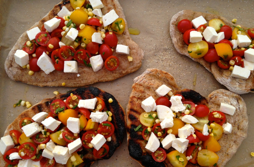 Tomato & Corn Salad Pizza