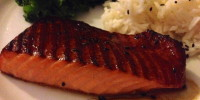 Broiled Salmon with Super Easy Asian Marinade and Sauce