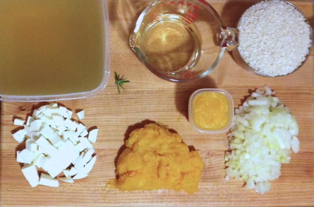 Ingredients for Vegetarian Pumpkin Risotto
