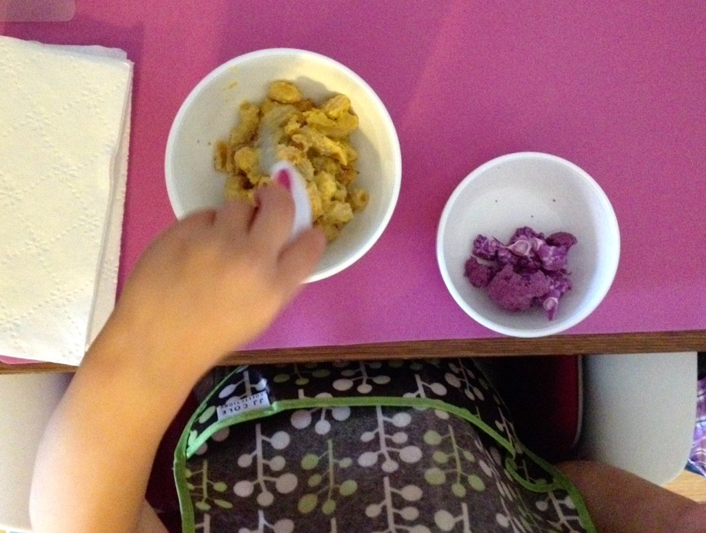Eliana requested purple cauliflower she spotted at the market today as a side.
