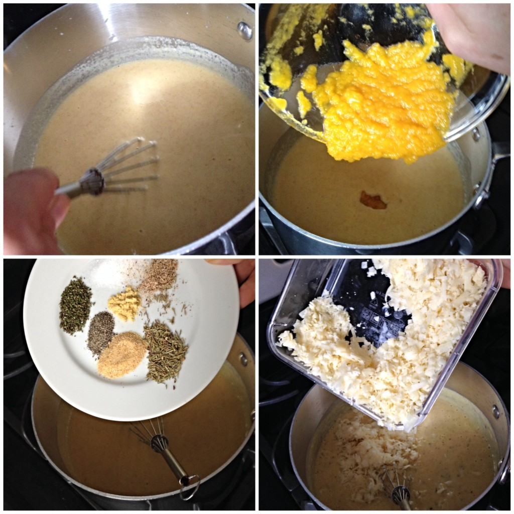 Creating a roux for Pumpkin Macaroni & Cheese