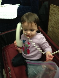 Last year, Eliana discovered an ancient tool called a telephone while in Chicago.