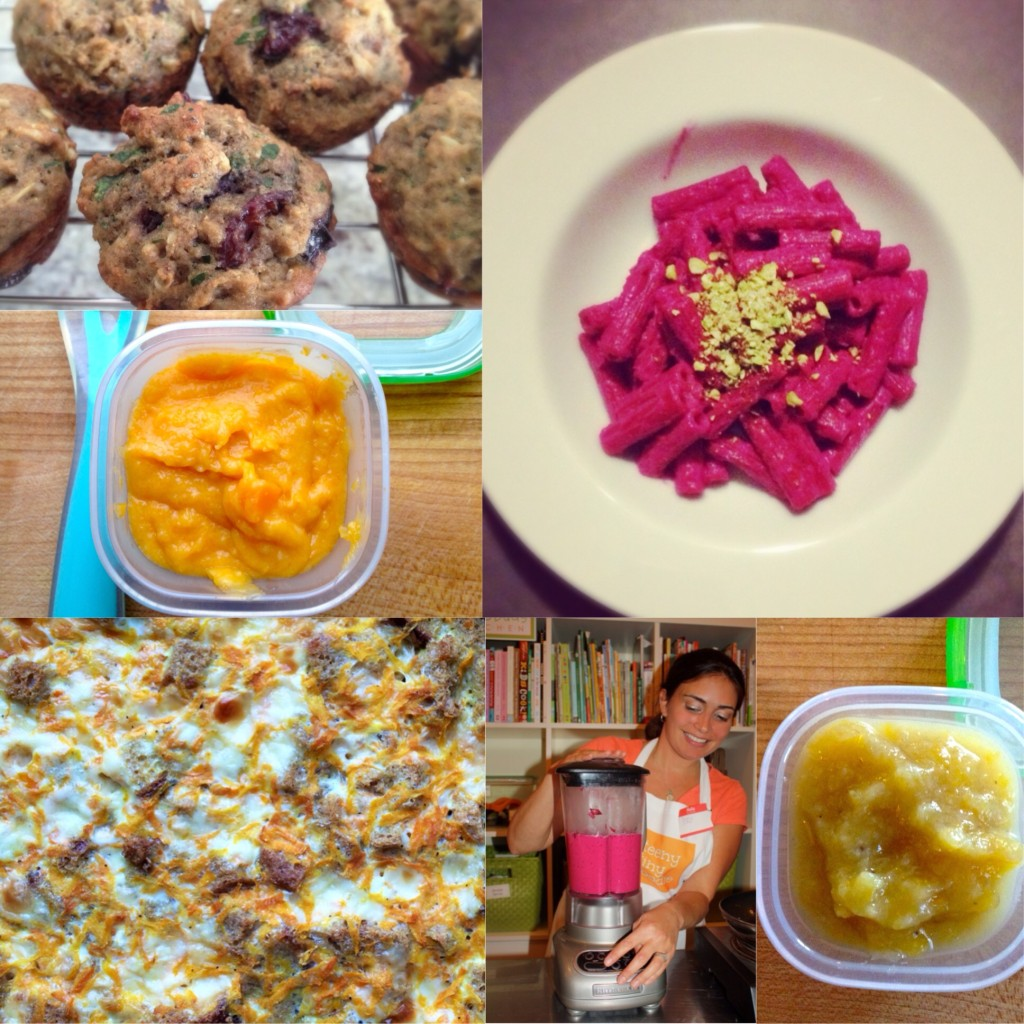 Some of the dishes we prepare in my classes: Baby Food Making and Cooking For Toddlers