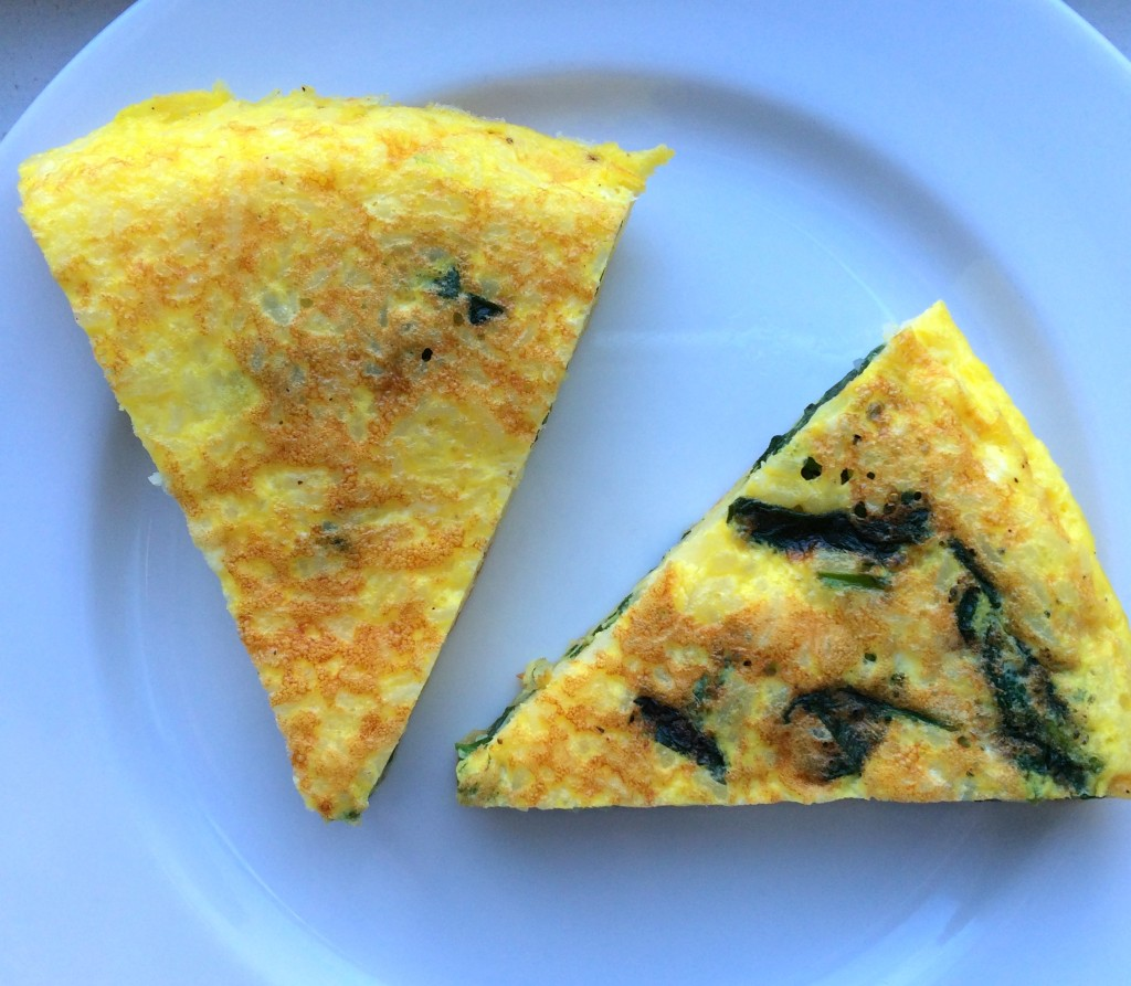 Garlicky Spinach and Cheese Frittata