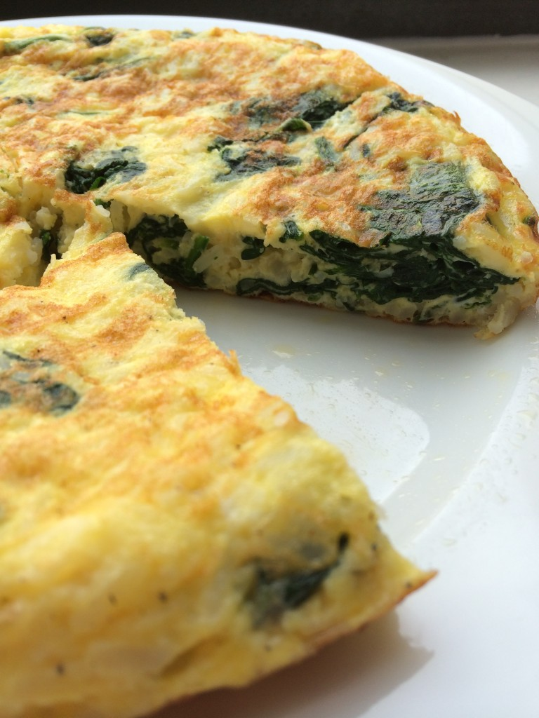 Garlicky Spinach & Cheese Frittata
