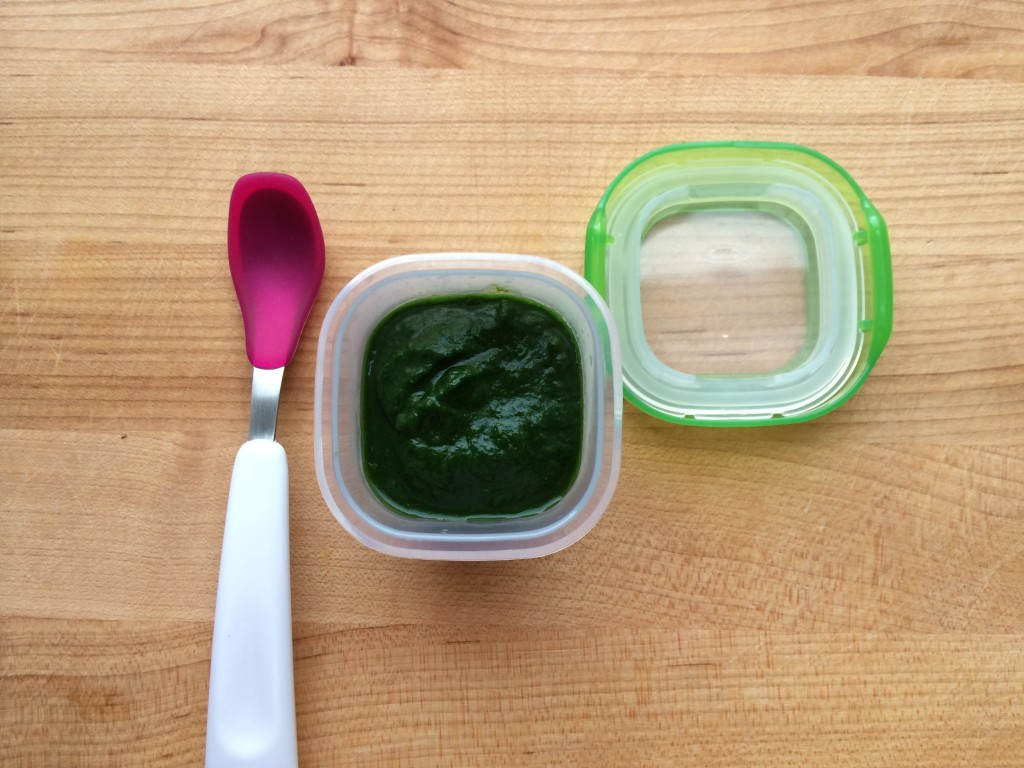 Simple Spinach Puree from teeny tiny foodie