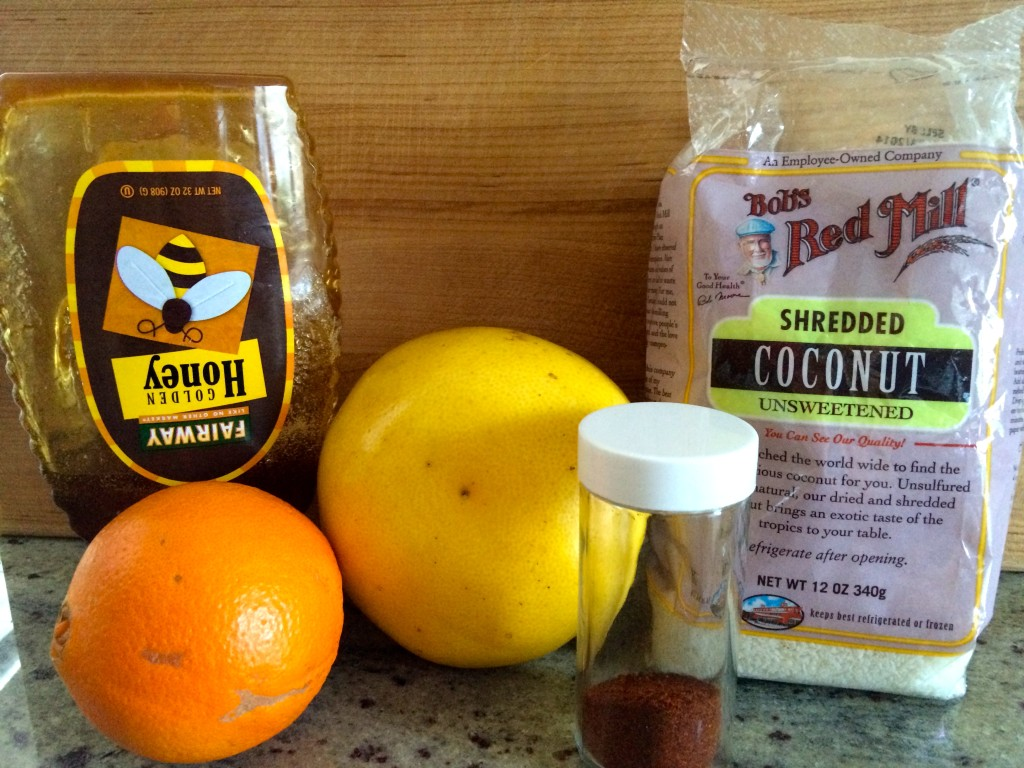 Ingredients for Sweet & Spicy Citrus Salad