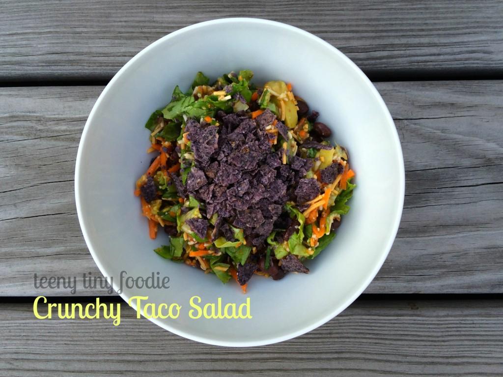 Crunchy Taco Salad from teeny tiny foodie
