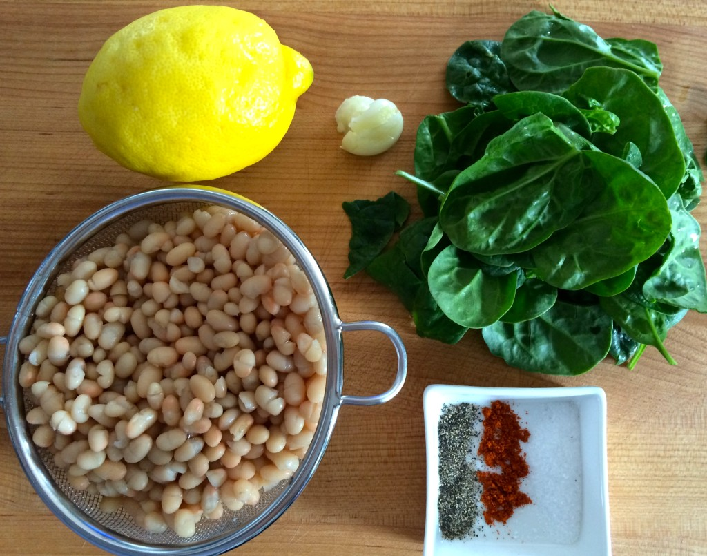 Ingredients for Green Hummus from teeny tiny foodie