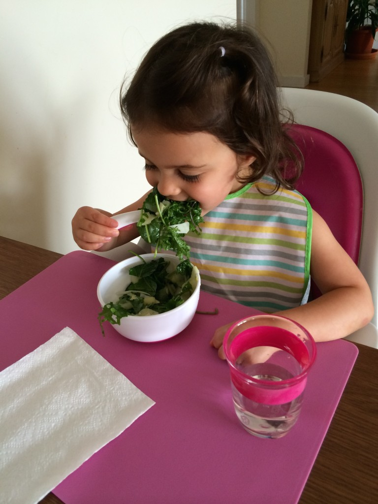 Shaved Apple & Baby Kale Salad from teeny tiny foodie