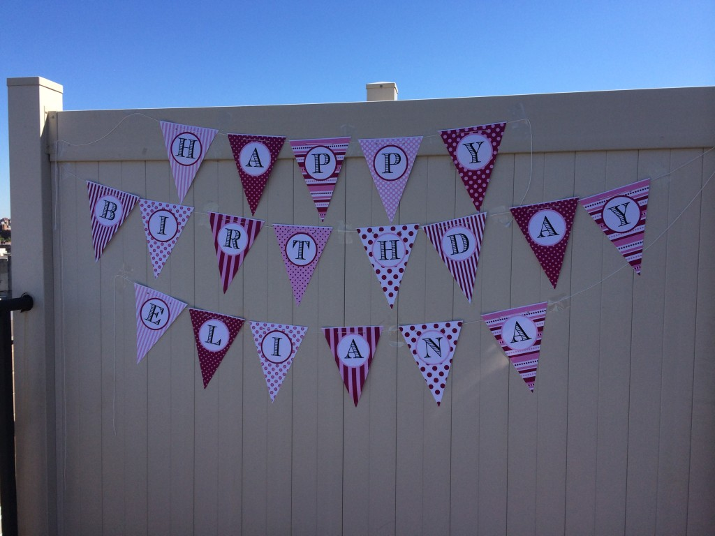 Birthday banner by Cakeface Toppers from teeny tiny foodie