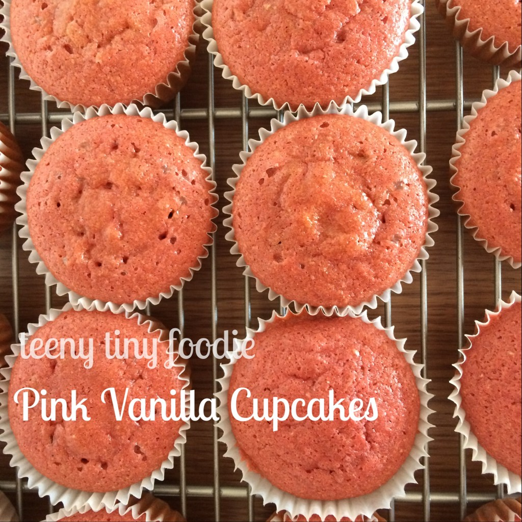 Pink Vanilla Cupcakes from teeny tiny foodie