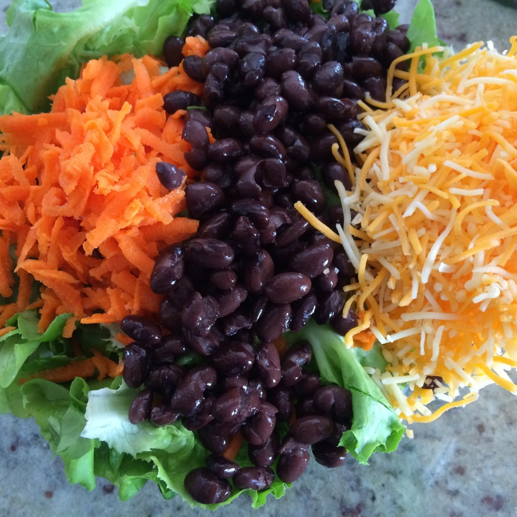 Some ingredients for Crunchy Taco Salad from teeny tiny foodie