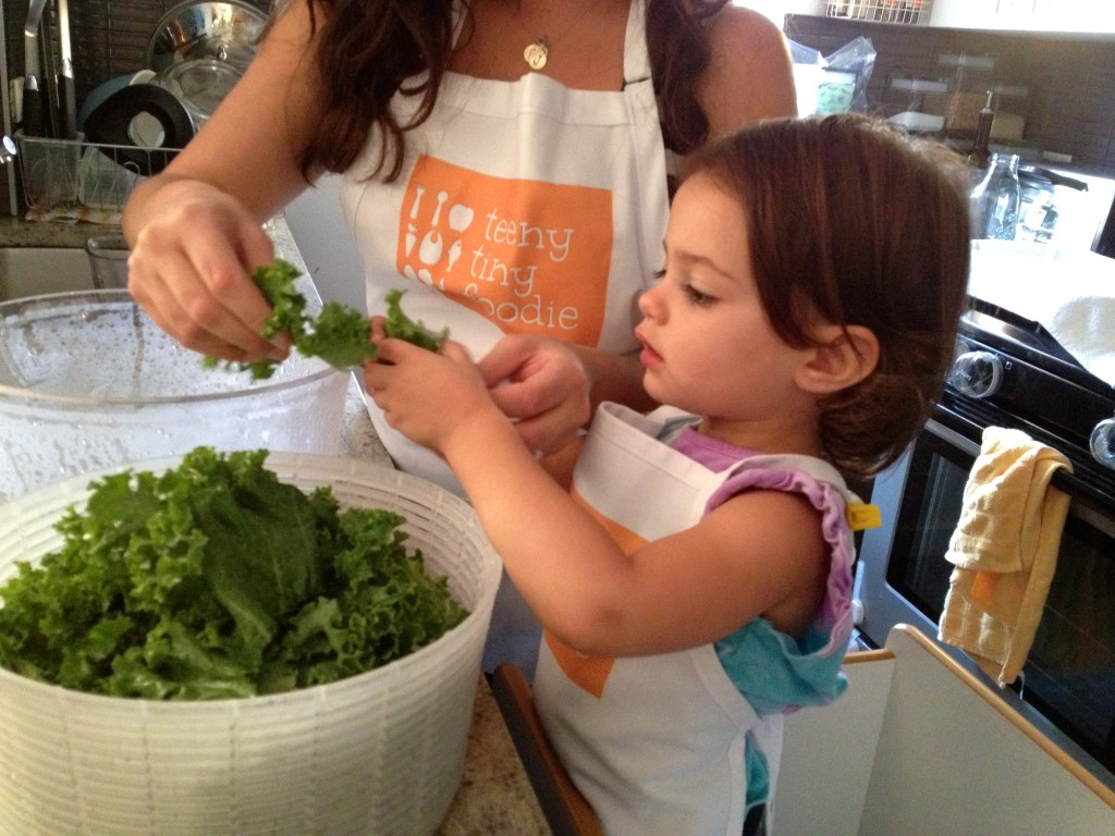 Massaging kale from teeny tiny foodie