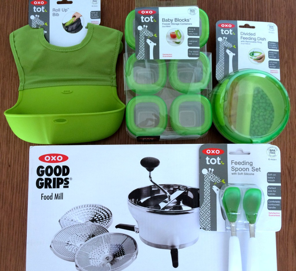 OXO Tot #FirstBites giveaway goodies from teeny tiny foodie