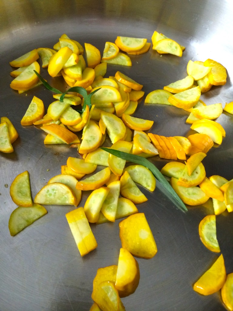 Preparing Yellow Squash and Tarragon Purée from teeny tiny foodie
