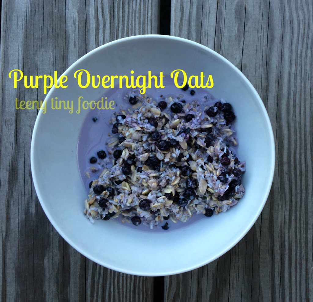 Purple Overnight Oats from teeny tiny foodie