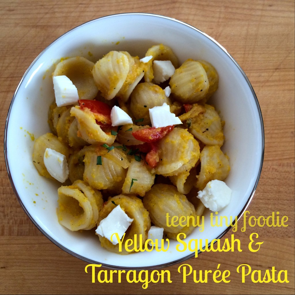 Yellow Squash and Tarragon Purée Pasta from teeny tiny foodie