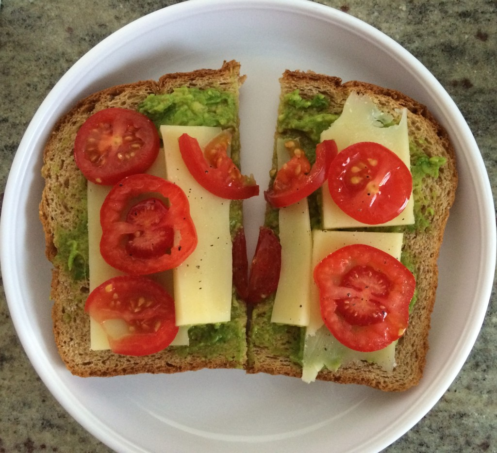 Avocado Tomato and Cheese Sandwich from teeny tiny foodie