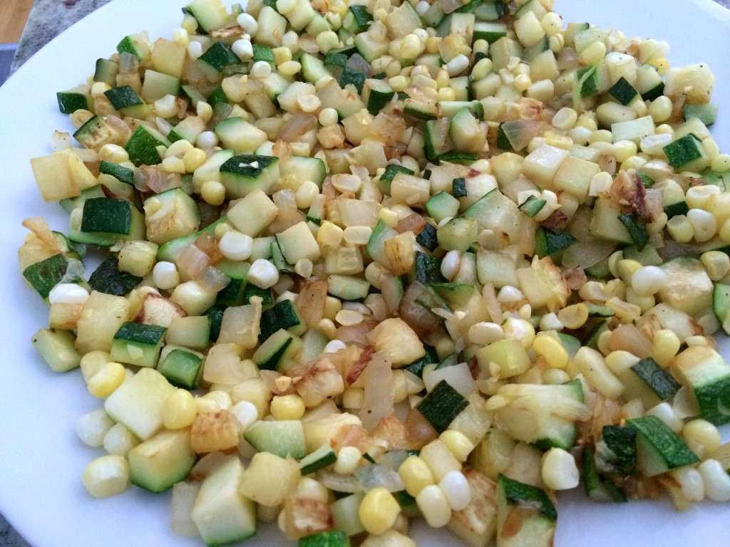 Corn, zucchini and onion for Farm Fresh Frittata from teeny tiny foodie