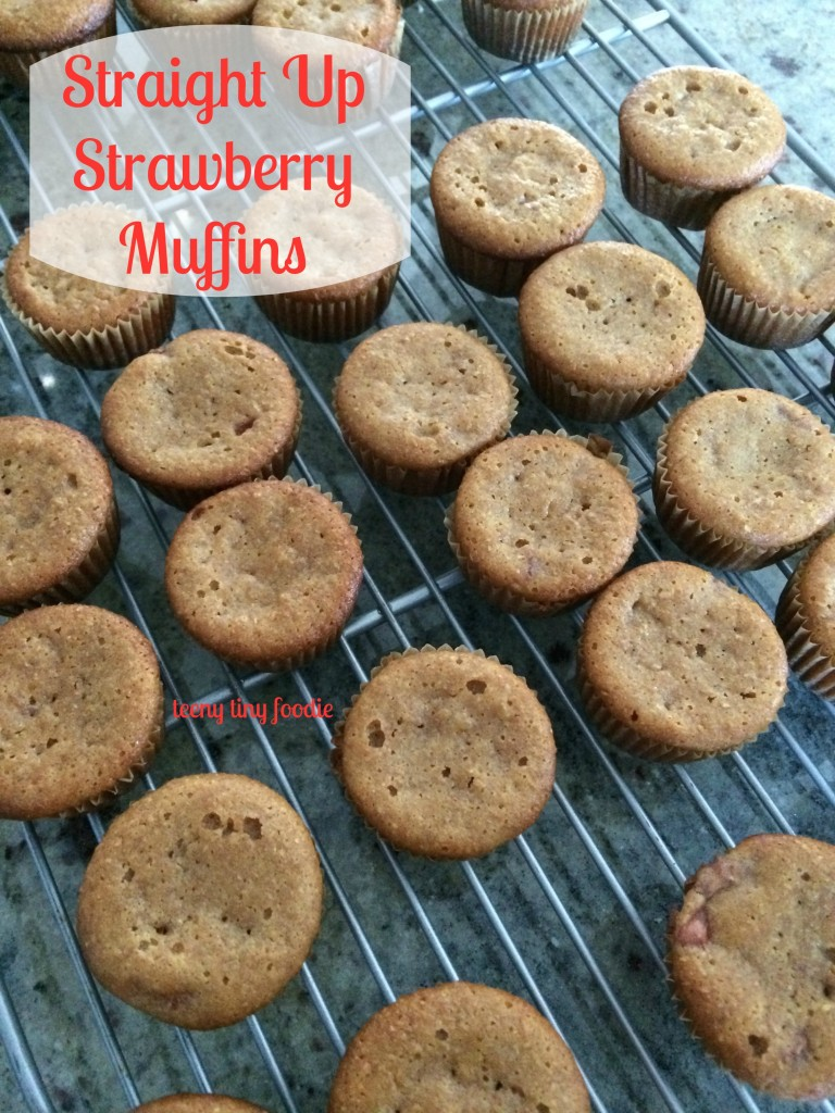 Straight Up Strawberry Muffins from teeny tiny foodie