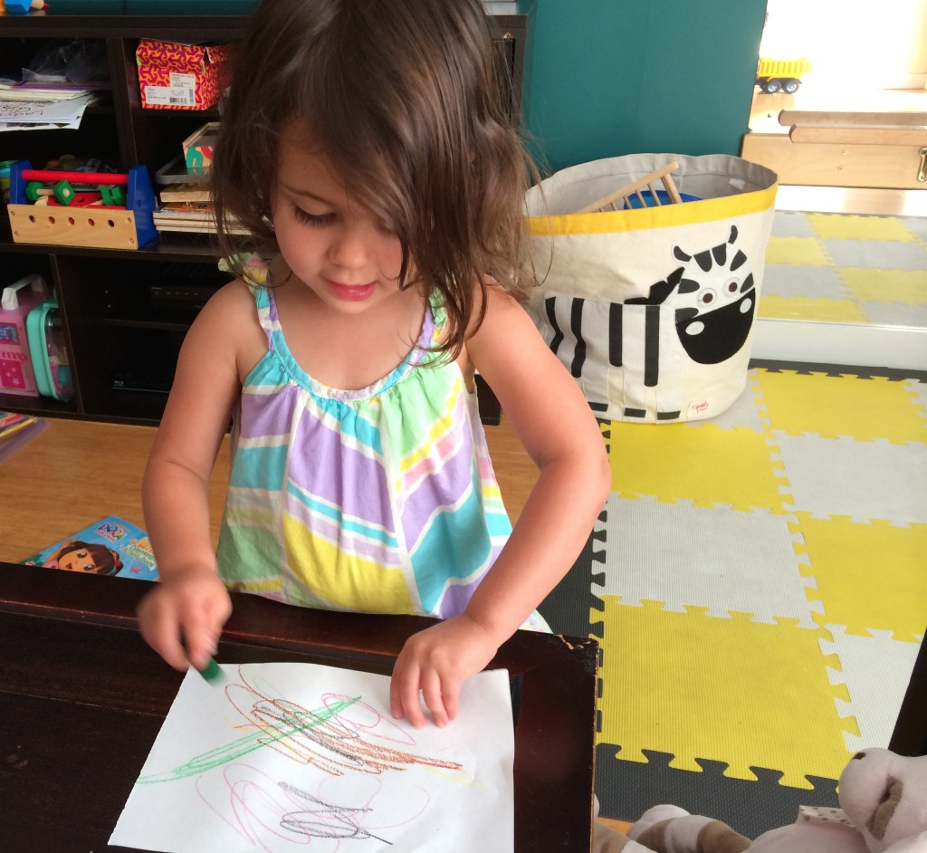 Eliana, from teeny tiny foodie, is drawing her dream lunch: kale chips, quesadilla and yogurt for #RockTheLunchbox