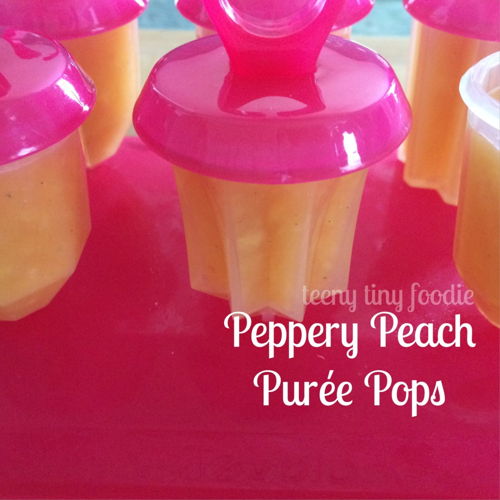 Peppery Peach Purée Pops from teeny tiny foodie