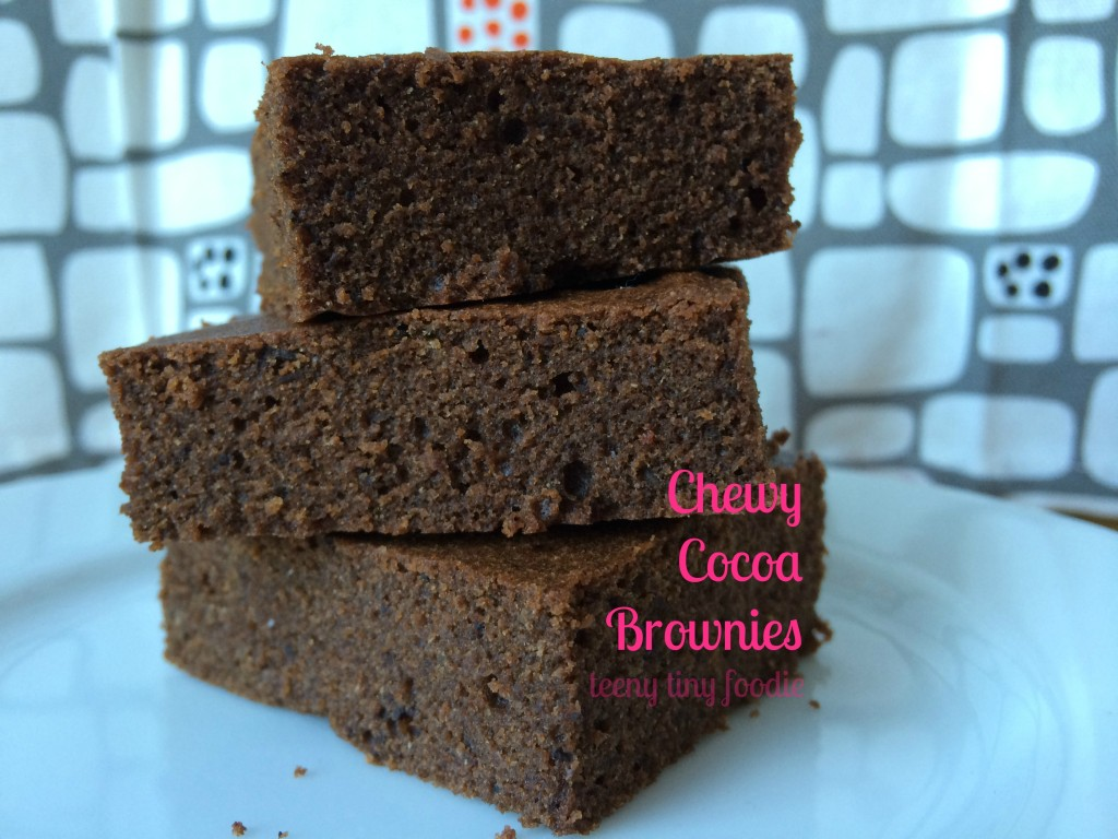 Chewy Cocoa Brownies from teeny tiny foodie
