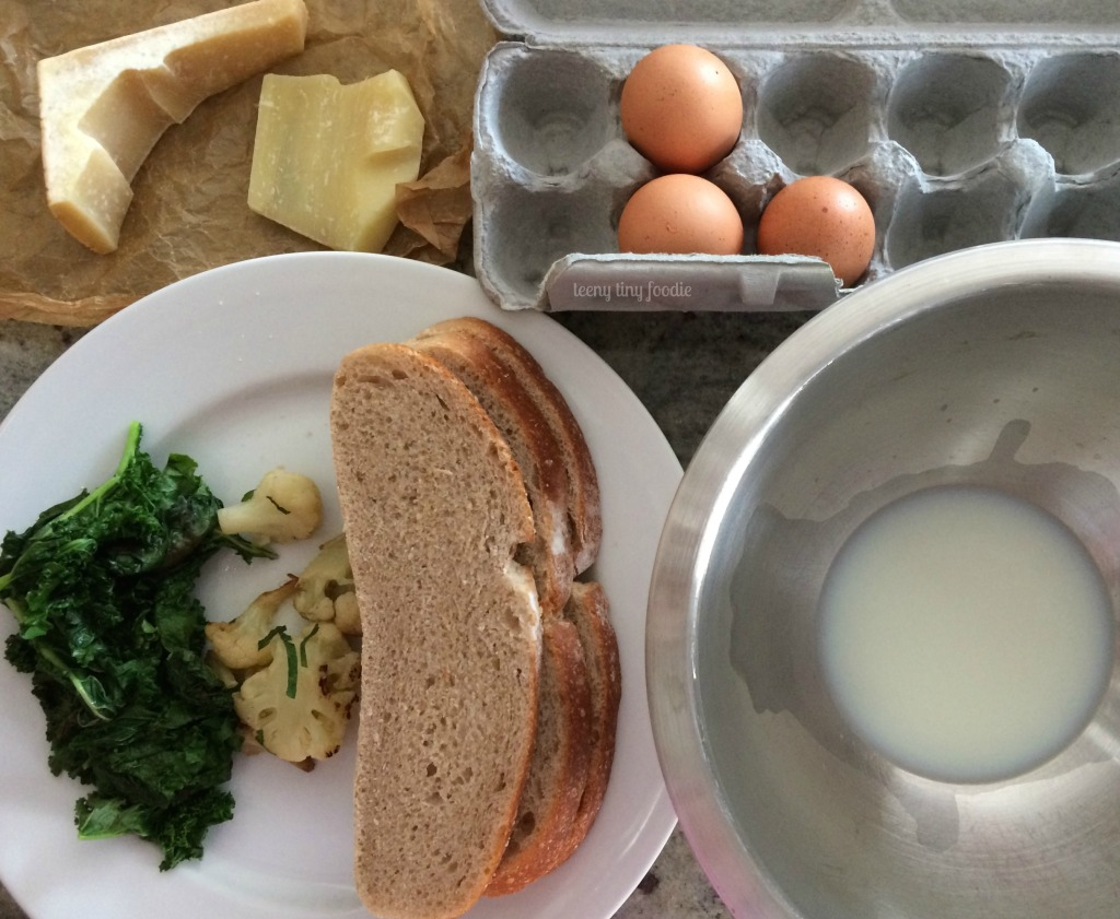 Ingredients for a #vegetarian Eggy Bread #Sandwich from teeny tiny foodie