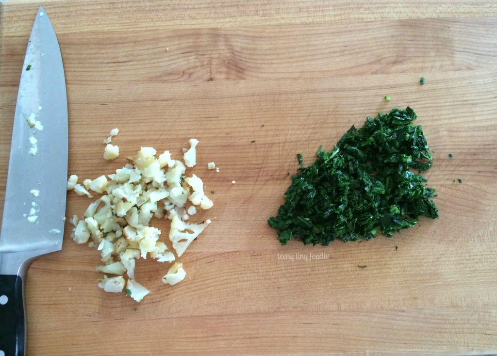 Chopped veggies for Eggy Bread Sandwich from teeny tiny foodie