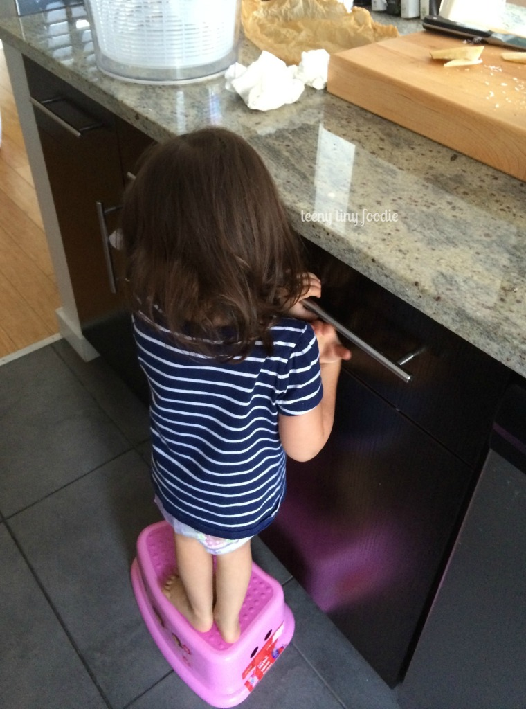 BYOS: Bring Your Own Stool to the kitchen and cook! from teeny tiny foodie #KidsCookMonday