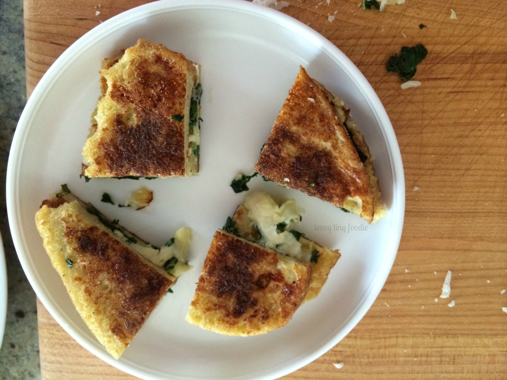 Toddler portion of Eggy Bread Sandwich from teeny tiny foodie