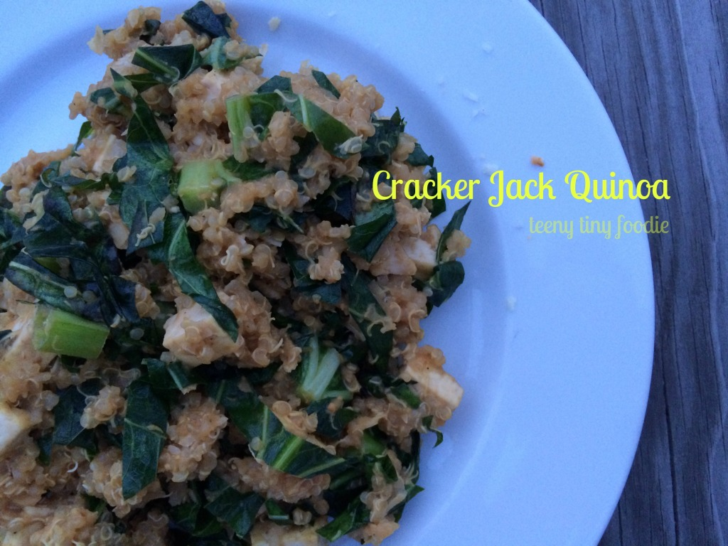 Cracker Jack Quinoa from teeny tiny foodie #vegan #healthy #quinoa