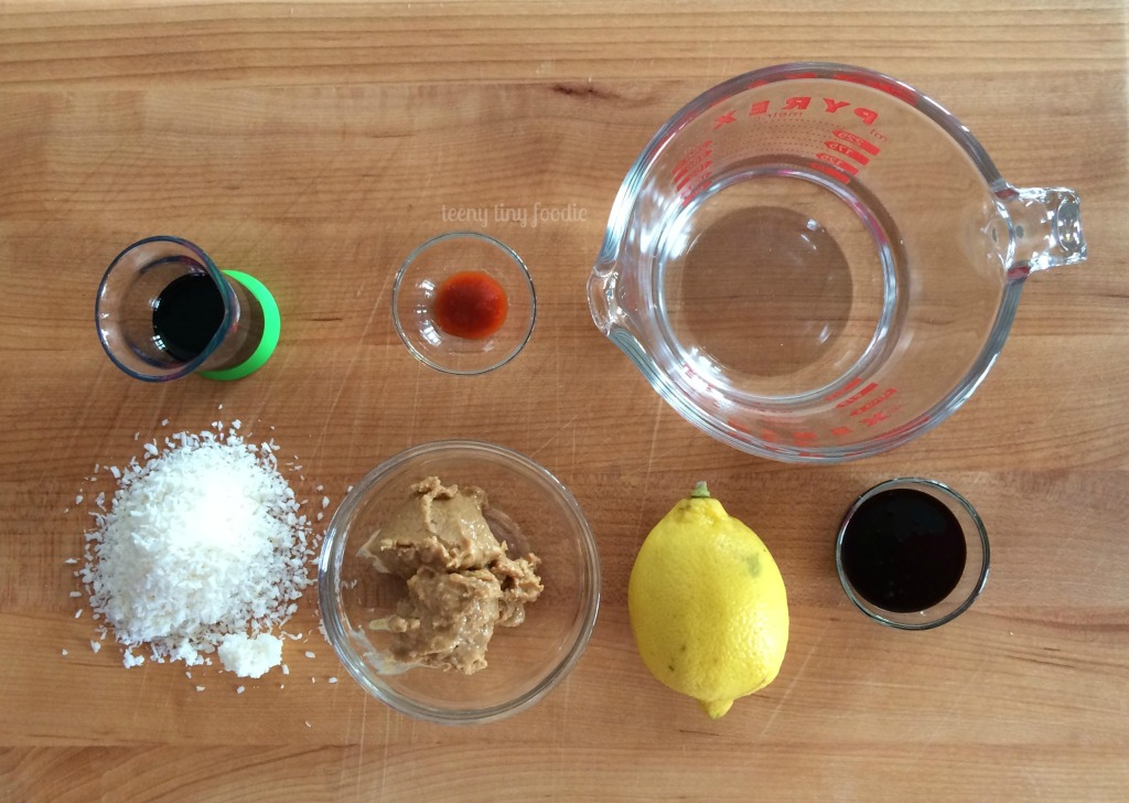 Ingredients for sauce for Cracker Jack Quinoa from teeny tiny foodie
