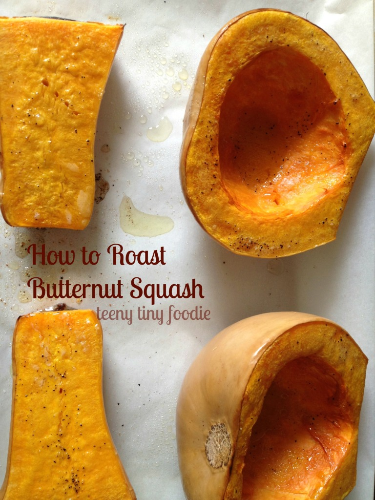 How to Roast Butternut Squash from teeny tiny foodie
