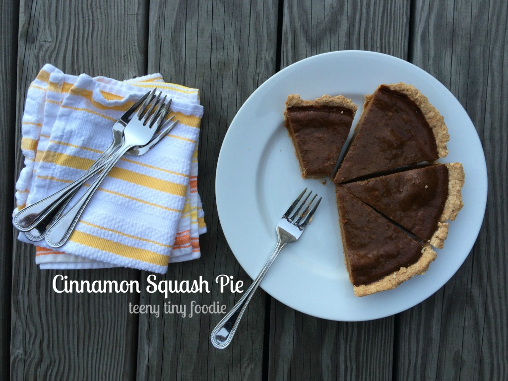 Cinnamon Squash Pie, from teeny tiny foodie, is your new favorite #Thanksgiving or #holiday #dessert!
