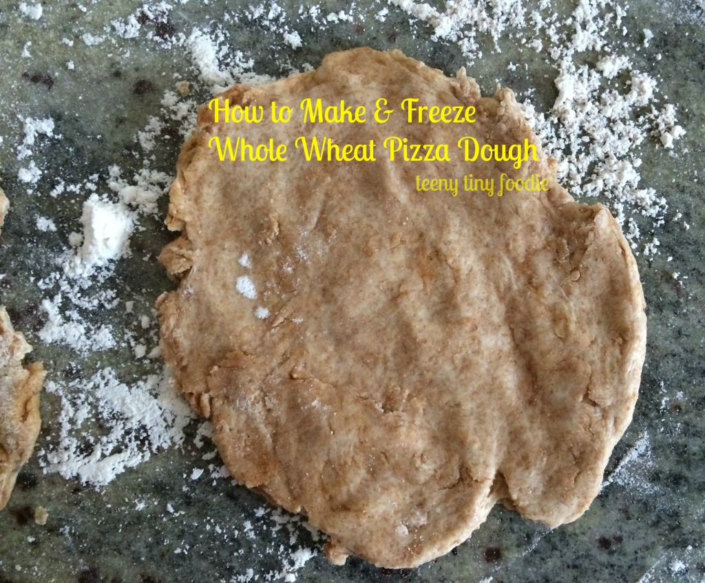 Make your own whole wheat pizza dough for a delicious and #healthy crust! from teeny tiny foodie
