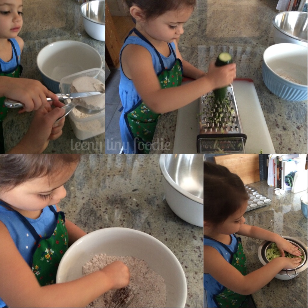 Let's make teeny zucchini muffins from teeny tiny foodie! #kidscook #kidsinthekitchen