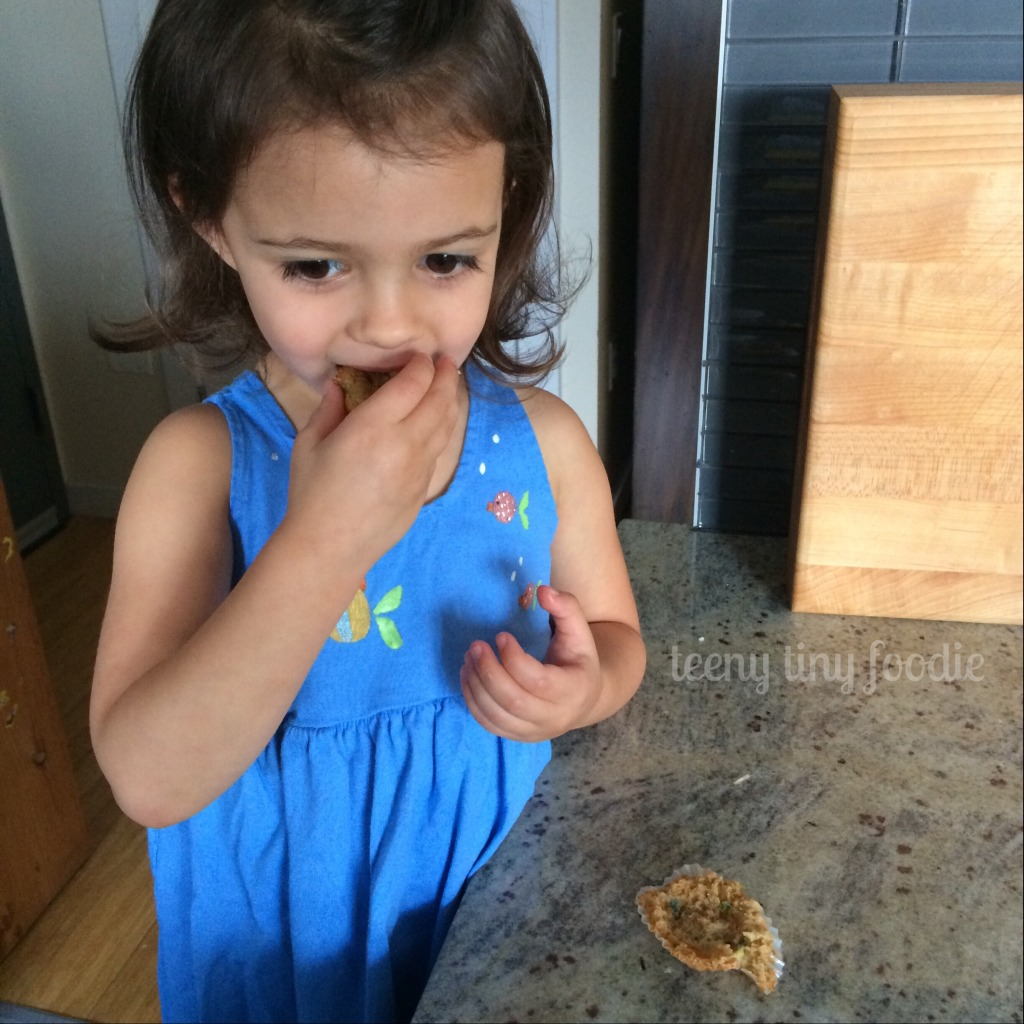teeny zucchini muffins are delicious! from teeny tiny foodie