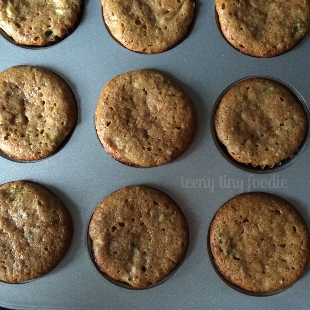 teeny zucchini muffins are a tasty veggie filled snack!
