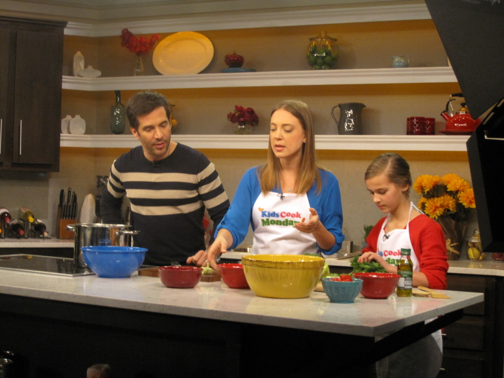 Diana explains cooking step Better TV Show TKCM