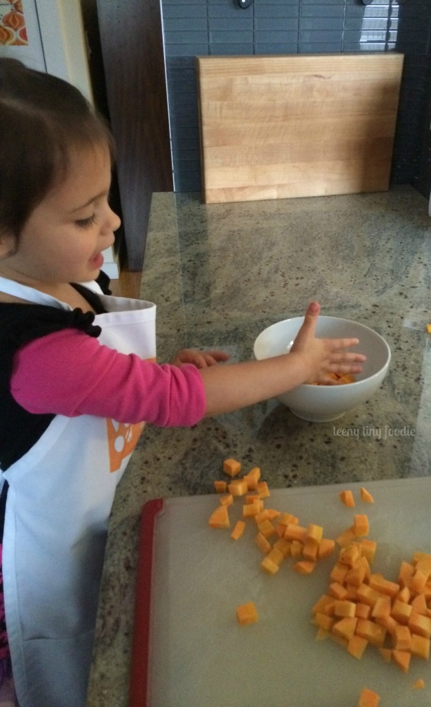 Very Veggie Soup from teeny tiny foodie will nourish and warm your family from the inside out this winter! #vegetarian #kidsinthekitchen #toddlerscancook #vegan #soup