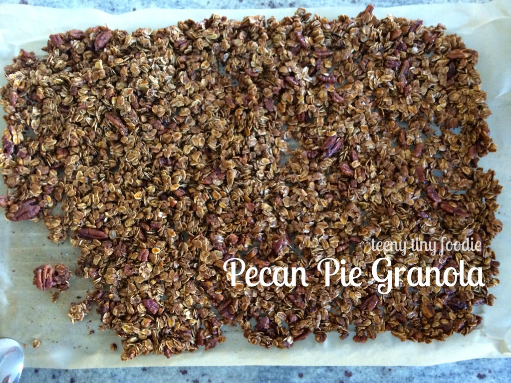 Pecan Pie #Granola from teeny tiny foodie is a scrumptious treat to enjoy yourself or to share as a #holiday #gift.