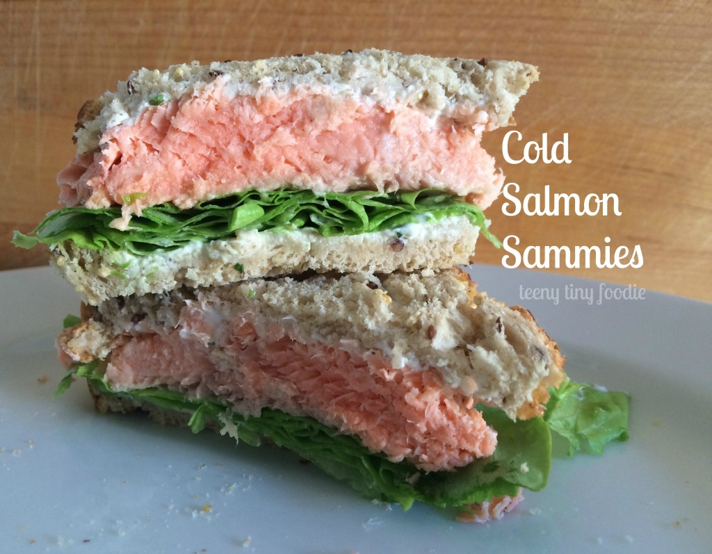 Cold Salmon Sammies from teeny tiny foodie are an #easy and #healthy make-ahead meal.